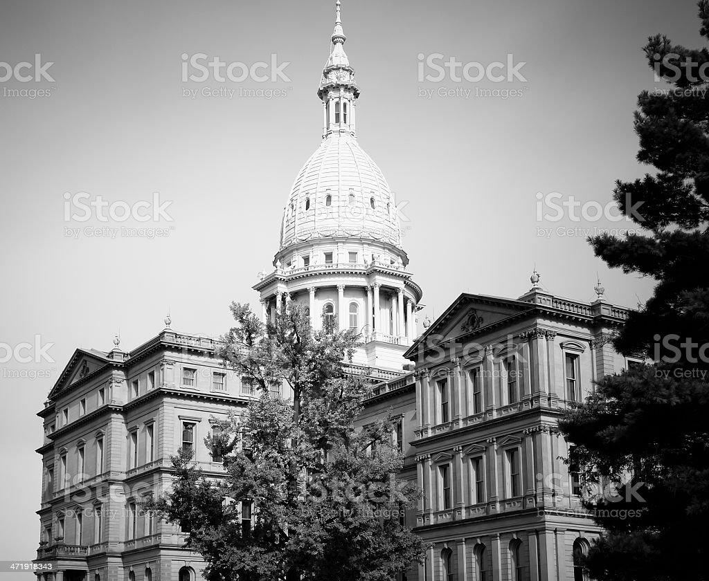 Capitol Building, Lansing royalty-free stock photo