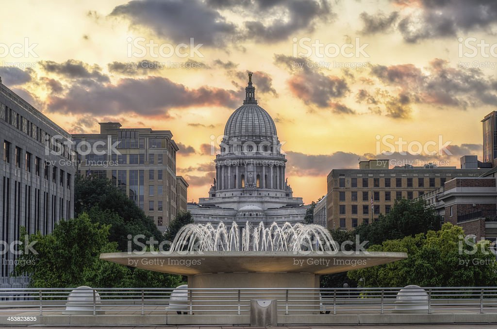 Capitol Building - Madison, WI stock photo