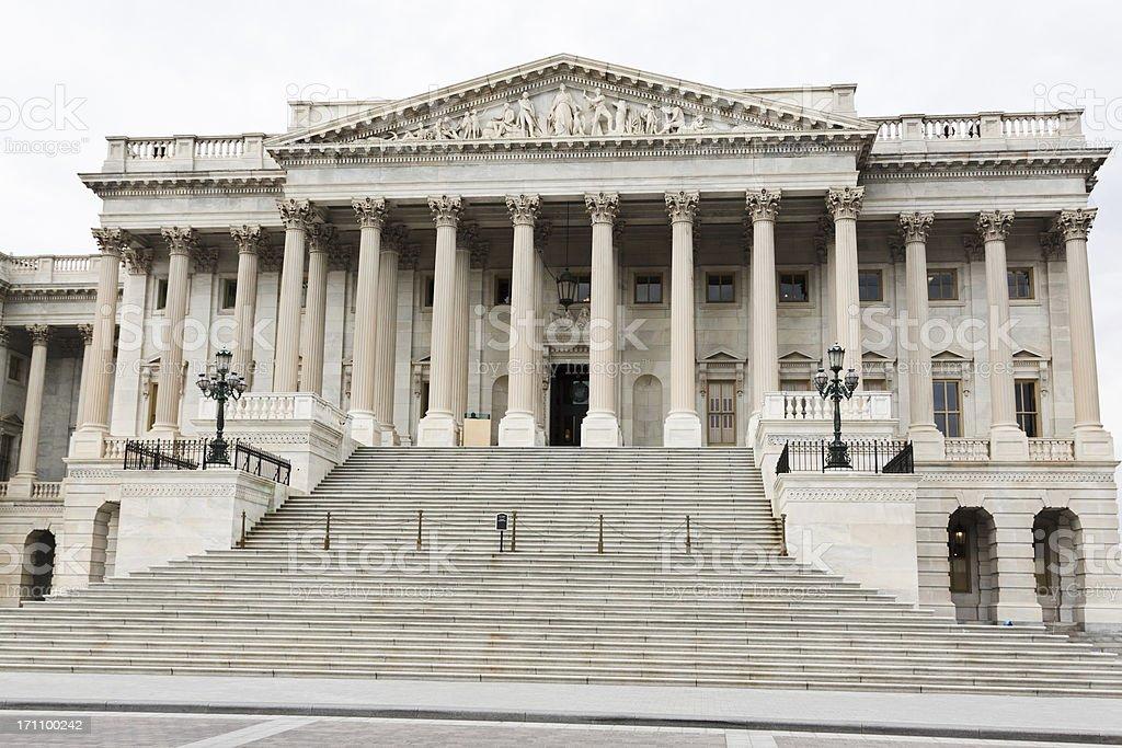 Capitol Building North wing (senate wing), Washington DC. royalty-free stock photo