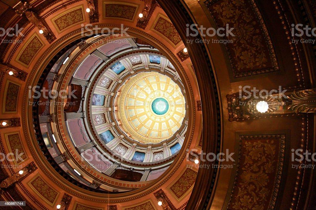 Capitol Building of Michigan stock photo