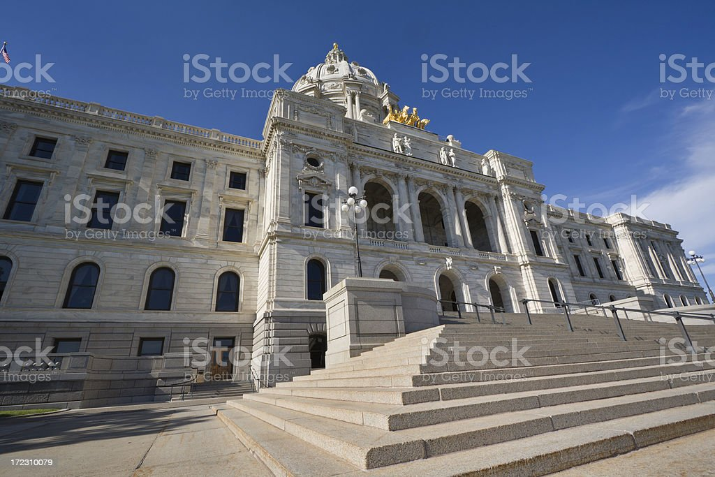 Capitol Building of Minnesota Hz royalty-free stock photo