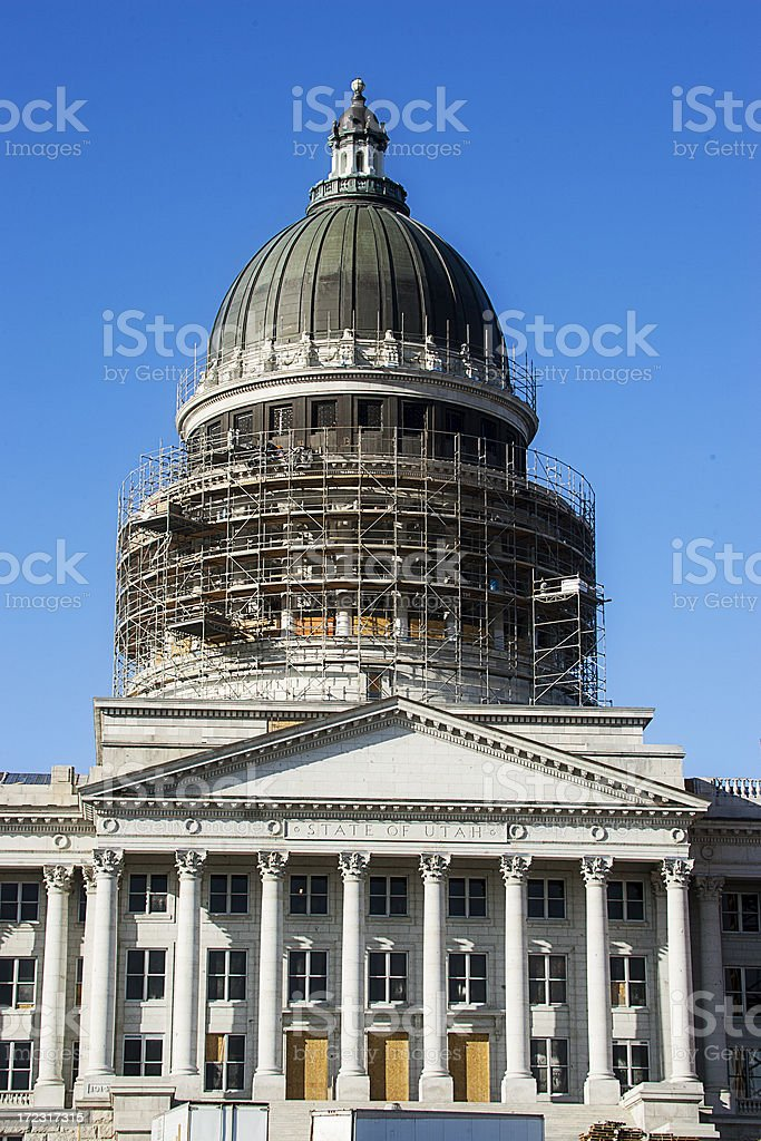 Capitol Building Rennovation stock photo