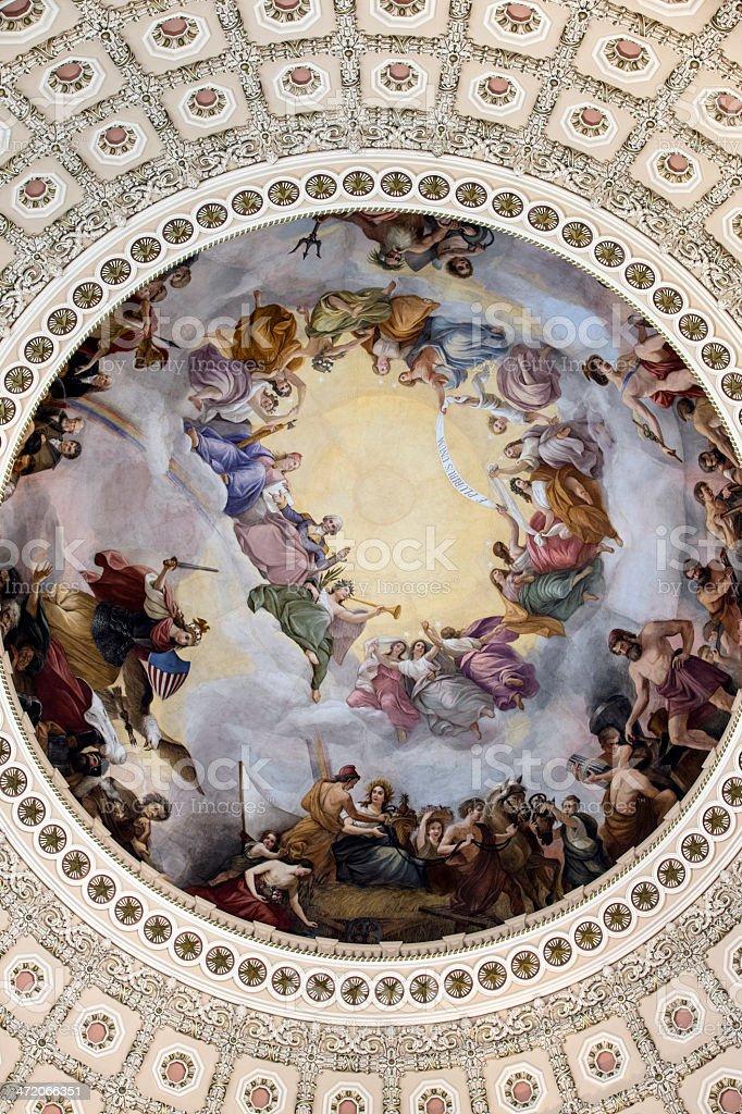 US Capitol Building Rotunda Mural royalty-free stock photo