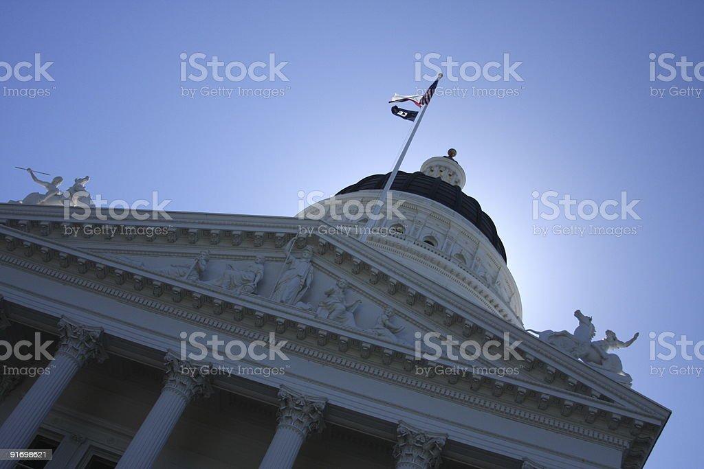 Capitol building, Sacramento, California royalty-free stock photo