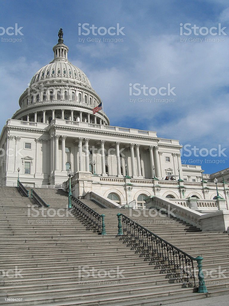 US Capitol Building- side view royalty-free stock photo