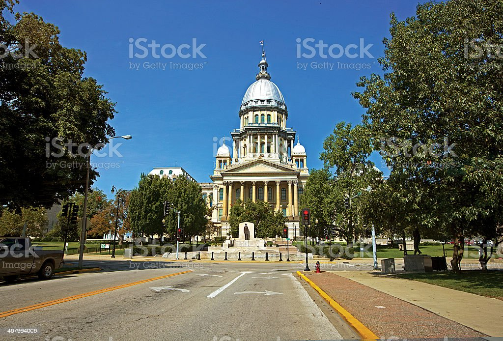 Capitol Building - State of Illinois, USA stock photo