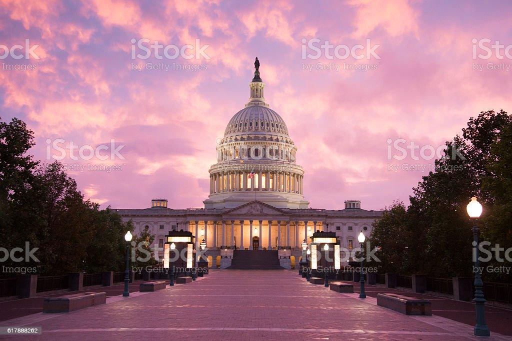 Capitol Building Sunset - Washington DC stock photo