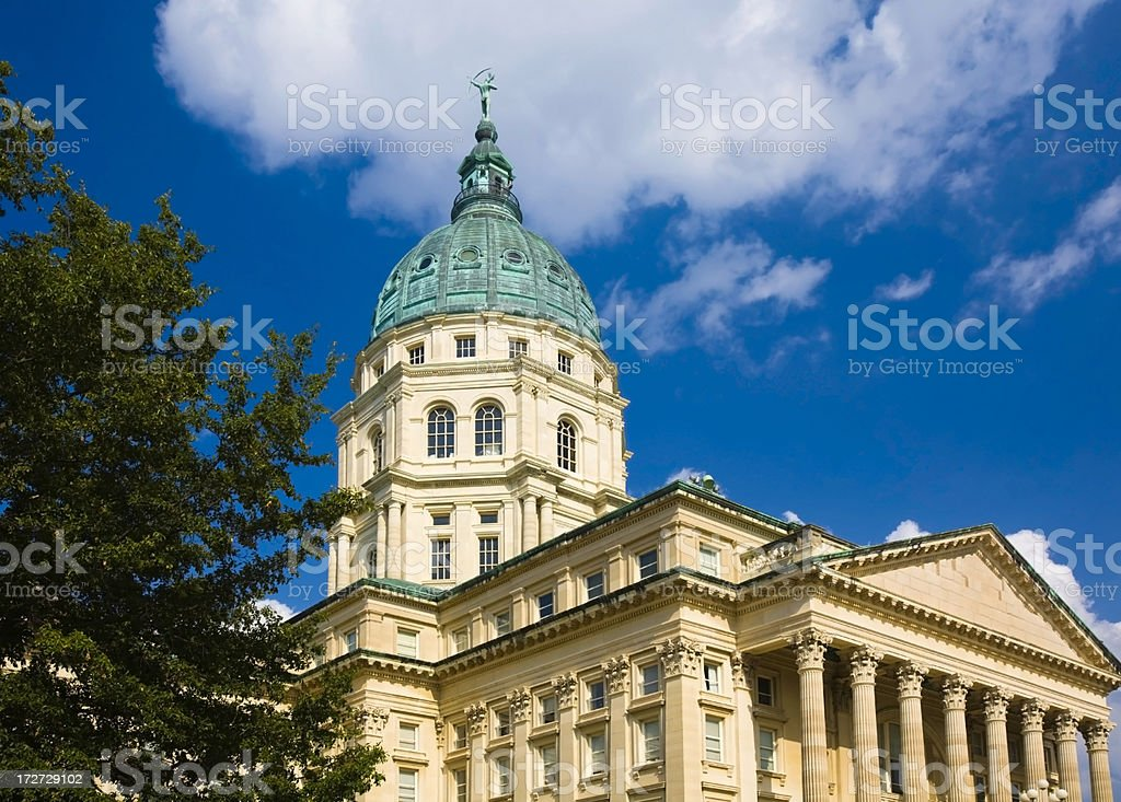 Capitol Building Topeka Kansas royalty-free stock photo