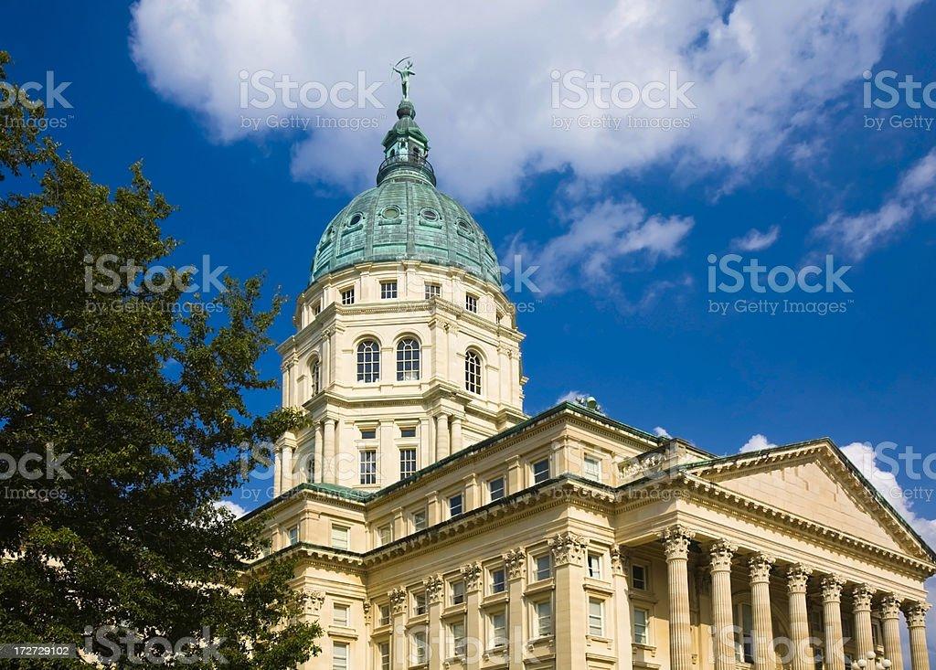 Capitol Building Topeka Kansas stock photo