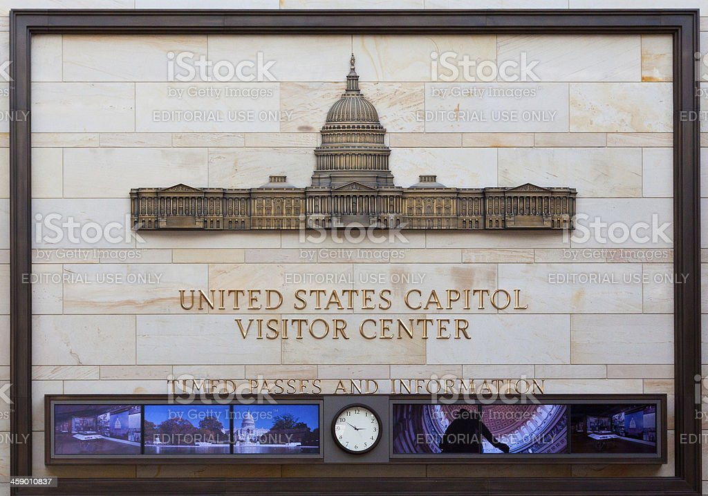 Capitol Building Visitor Center, Washington DC royalty-free stock photo