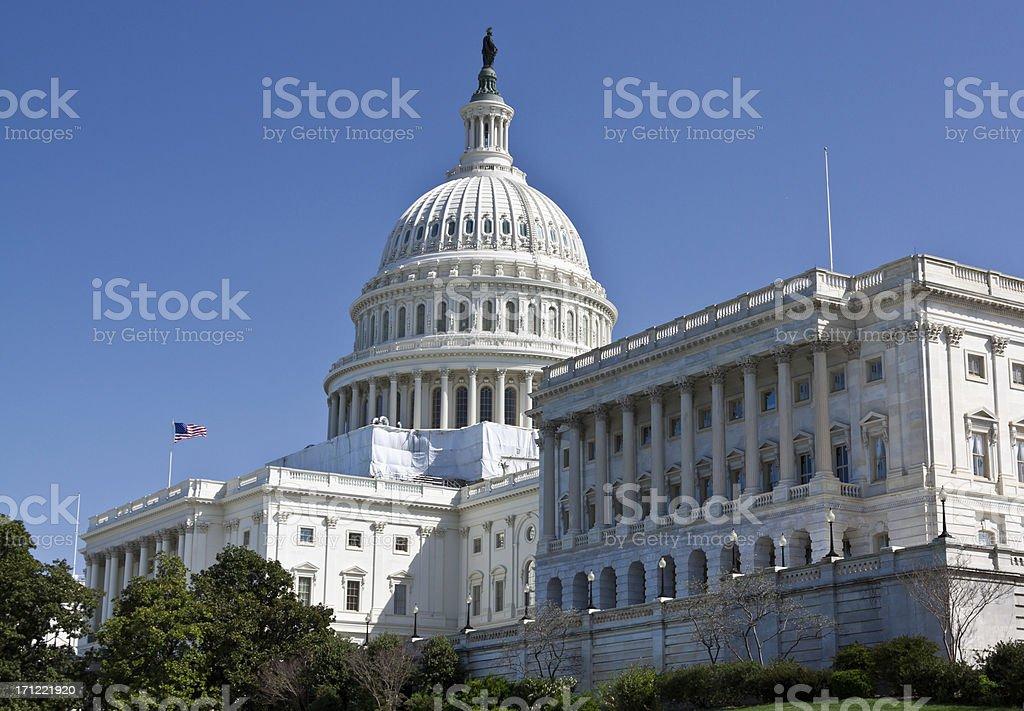 Capitol Building, Washington DC. Clear blue sky. royalty-free stock photo