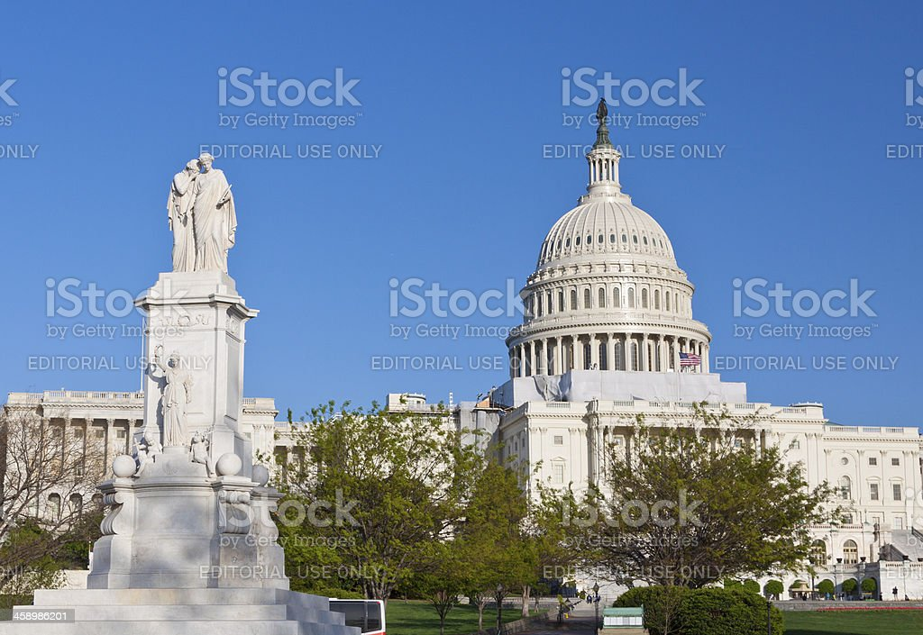 Capitol Building, Washington DC. Clear blue sky. royalty-free stock photo