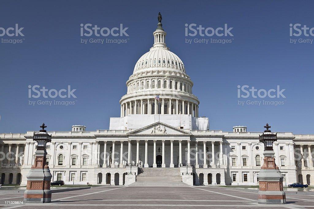 US Capitol Building, Washington DC. Deep blue clear sky. royalty-free stock photo