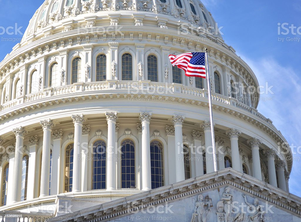 Capitol Building, Washington DC stock photo