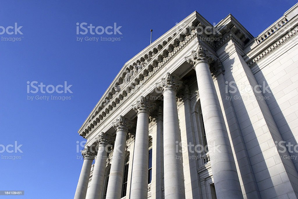 Capitol Columns stock photo