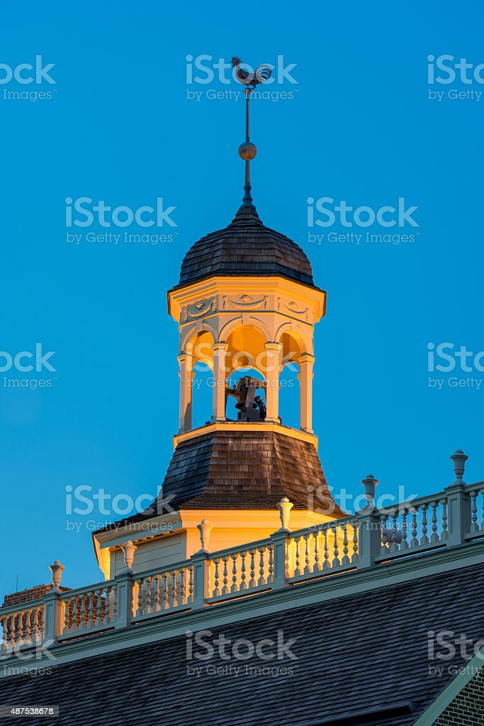 Capitol cupola of Dover stock photo