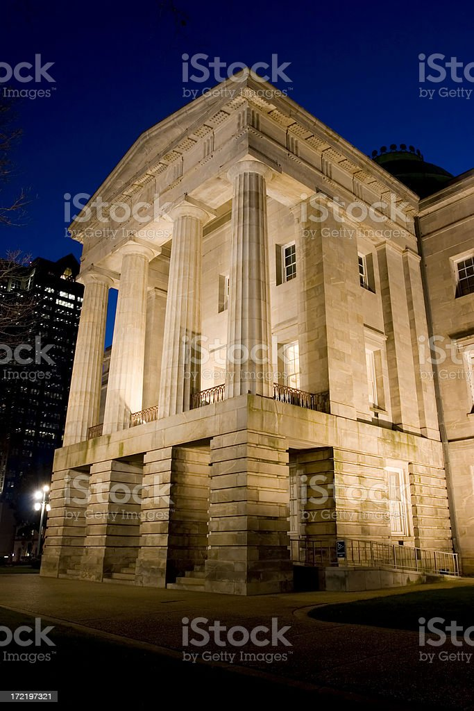 NC Capitol Detail at Dusk 01 royalty-free stock photo