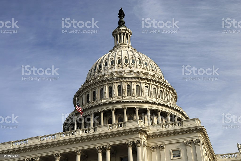 USA Capitol Dome in Washington, DC royalty-free stock photo