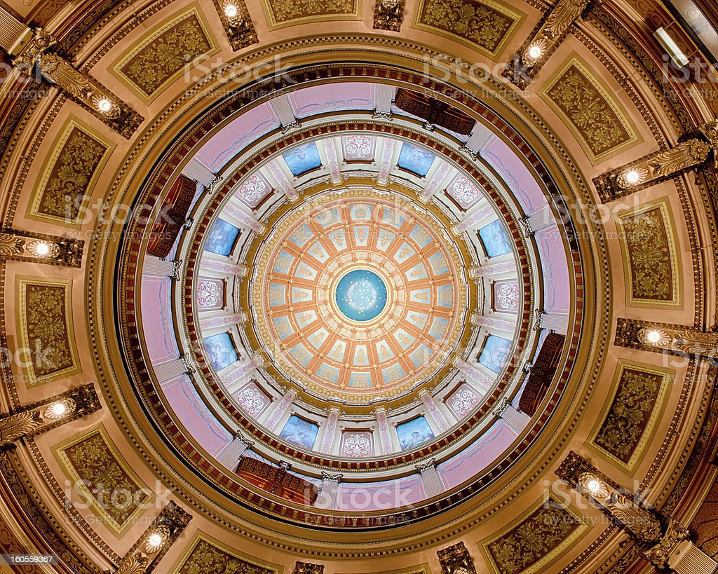 Capitol dome interior stock photo