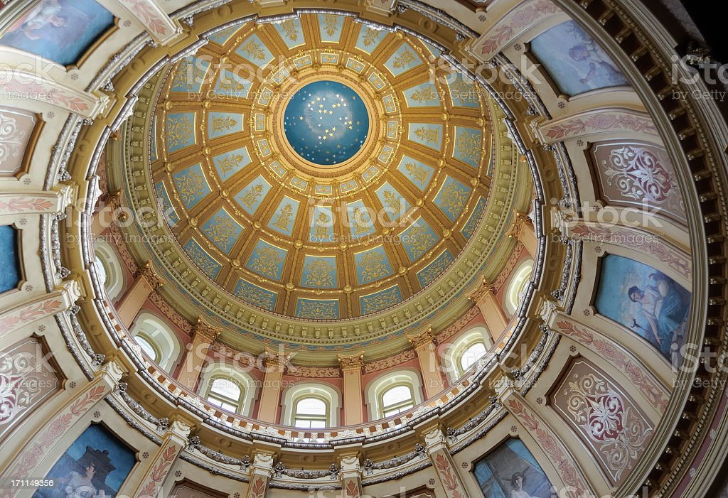 Capitol Dome, Lansing Michigan royalty-free stock photo