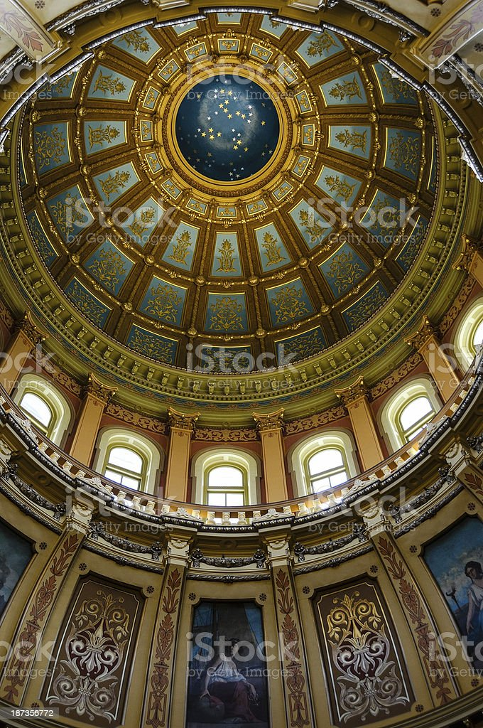 Capitol Dome, Lansing royalty-free stock photo