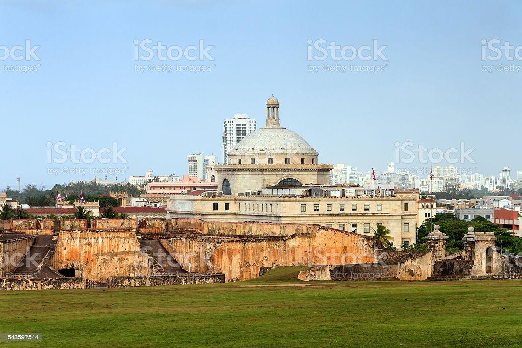 Capitol dome skyline stock photo