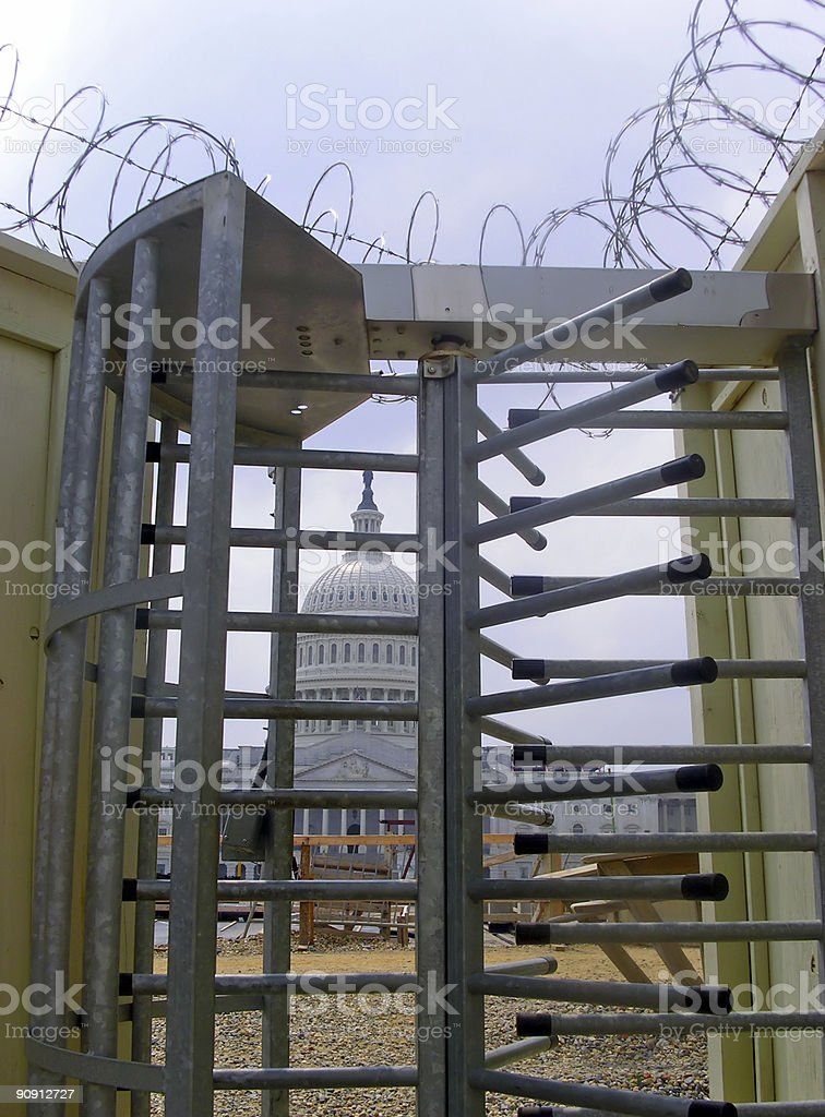Capitol falls on hard times royalty-free stock photo