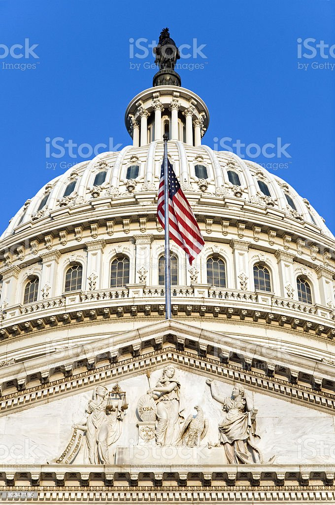 Capitol Flag stock photo