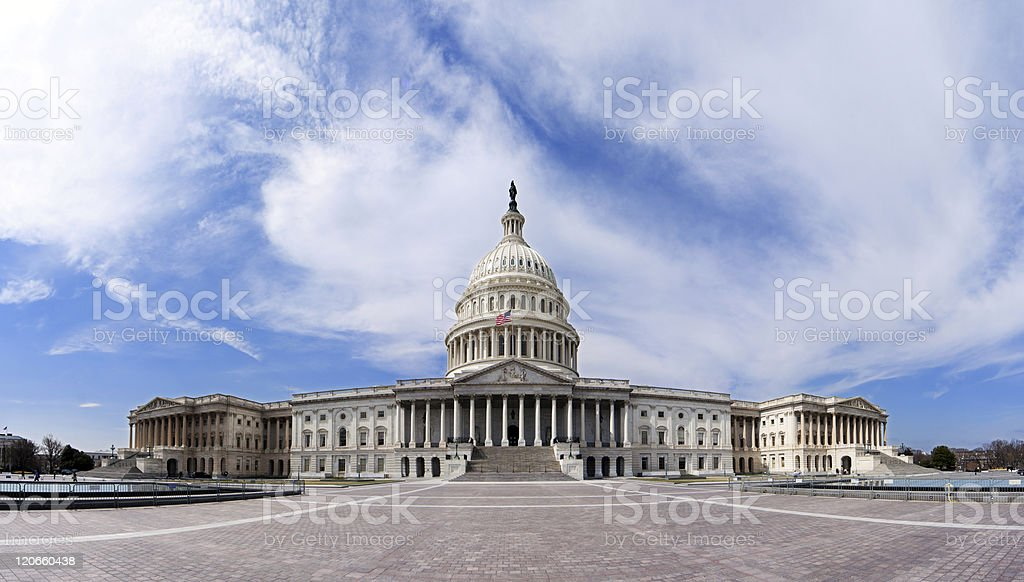 US Capitol - Government building royalty-free stock photo