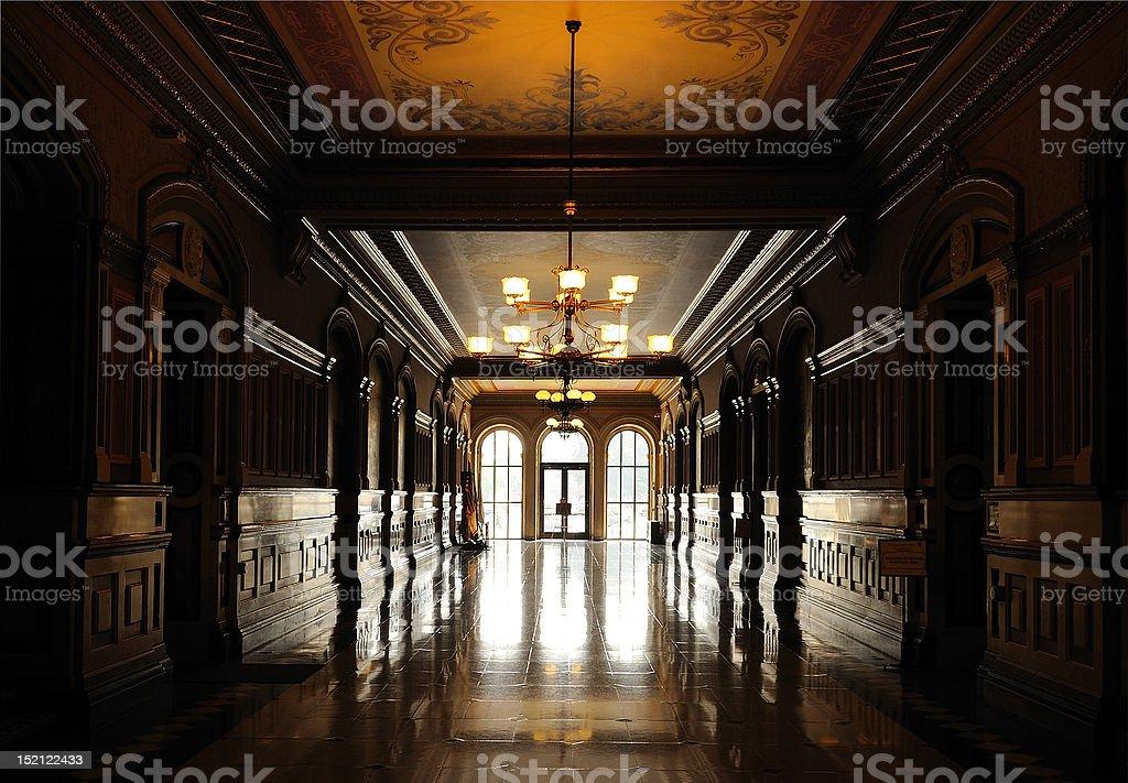 Capitol hallway stock photo