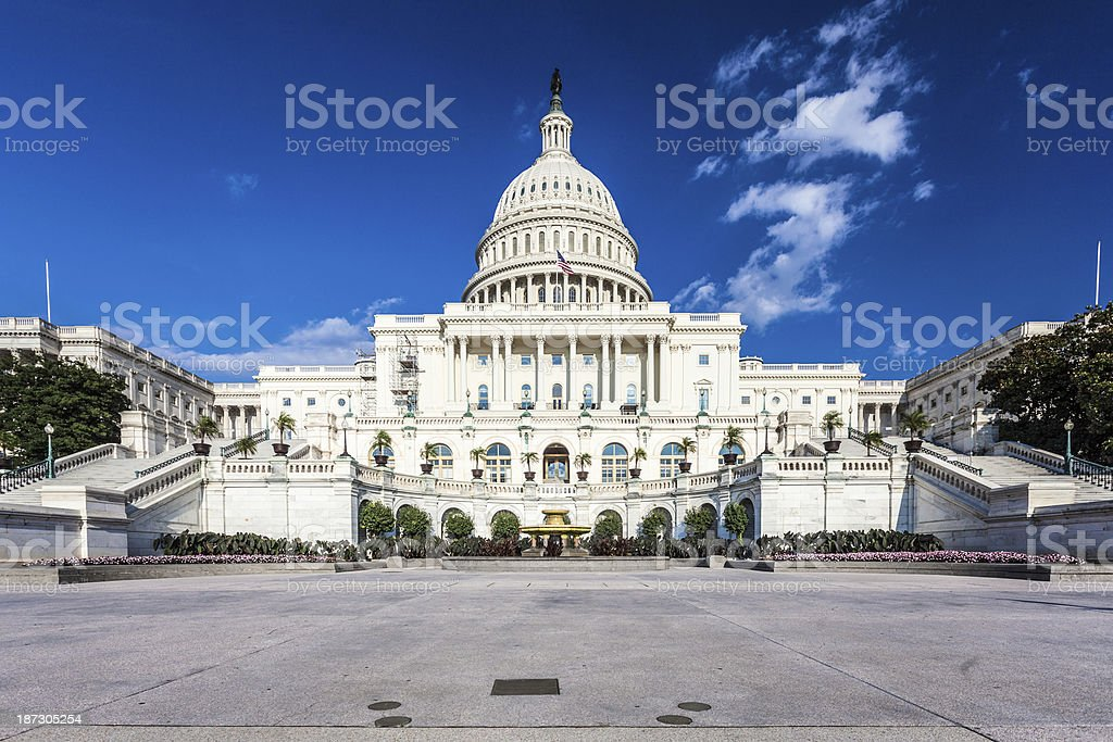 Capitol Hill Building in Washington D.C., Front View royalty-free stock photo