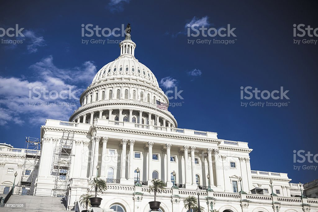 Capitol Hill Building in Washington D.C. royalty-free stock photo