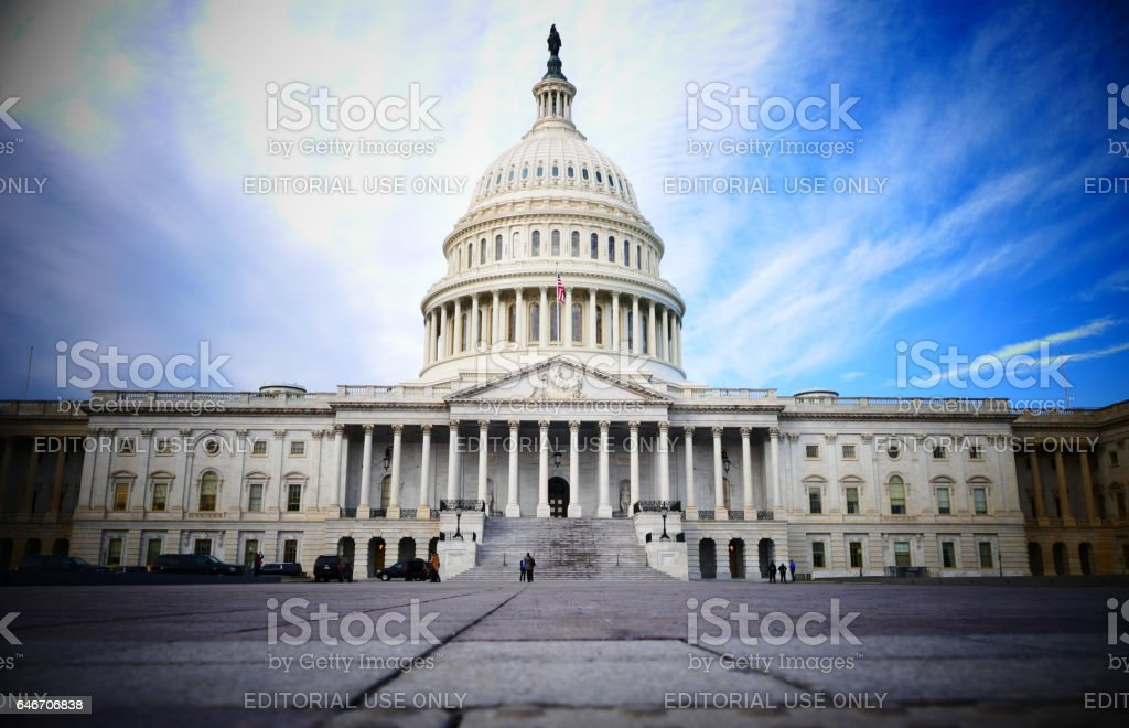 Capitol Hill Building in Washington DC stock photo