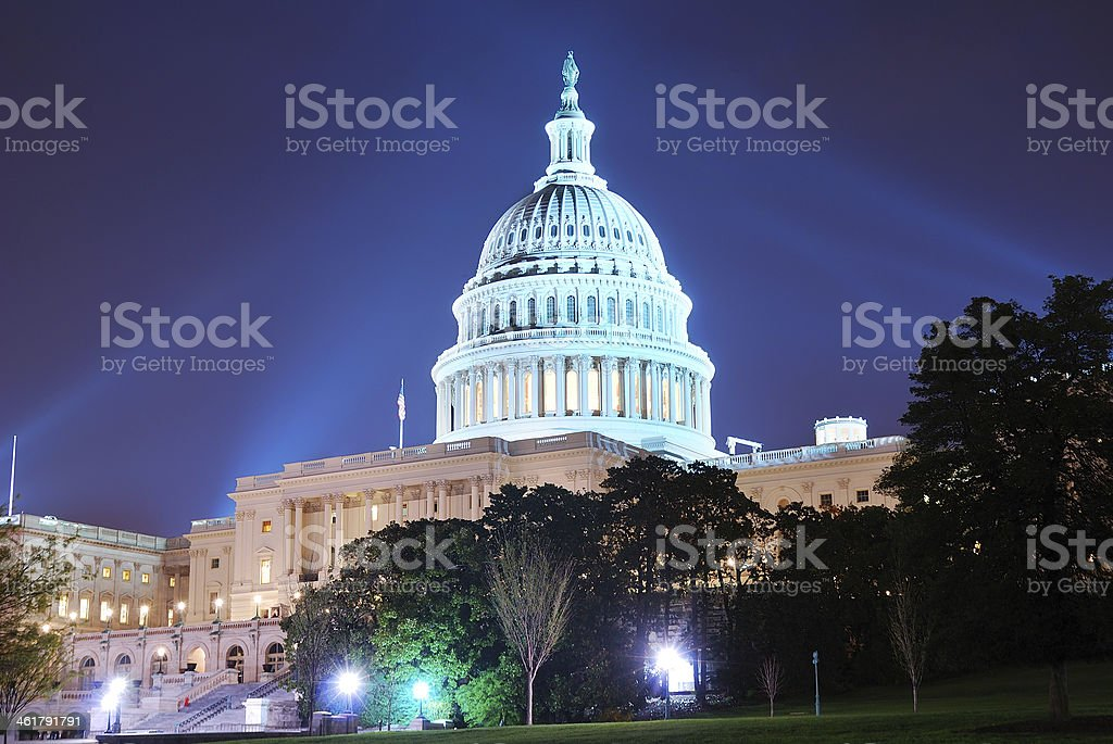 Capitol Hill Building, Washington DC royalty-free stock photo