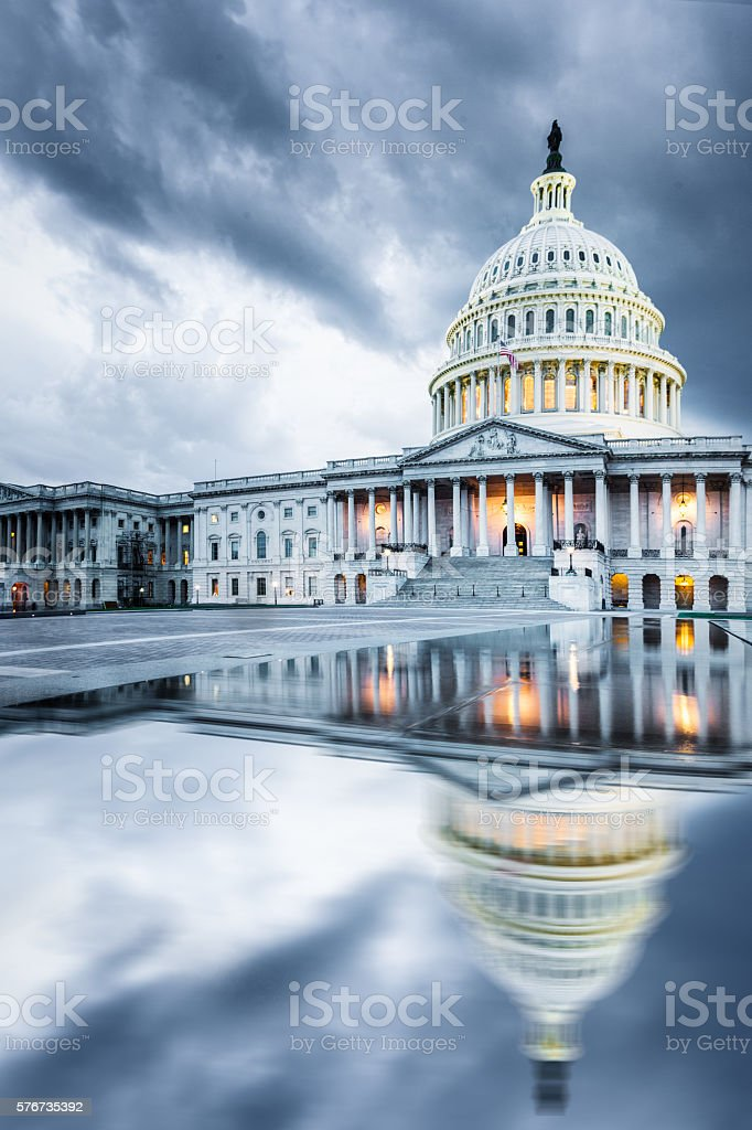 US Capitol Hill, DC stock photo