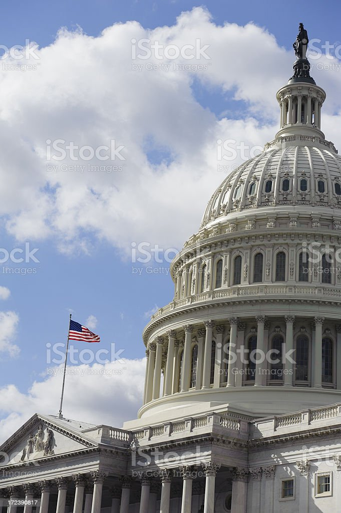 Capitol Hill in Washington DC royalty-free stock photo