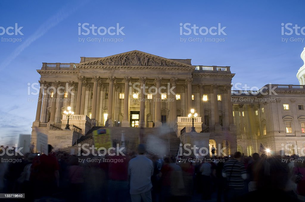 Capitol Hill Protest in Washington DC stock photo