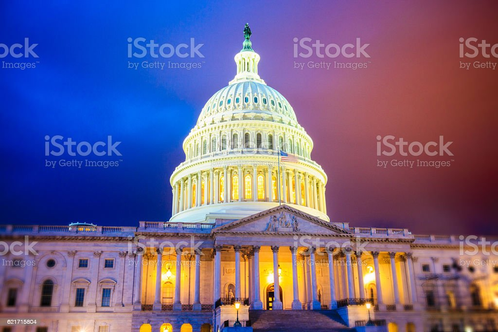 Capitol Hill Red or Blue stock photo