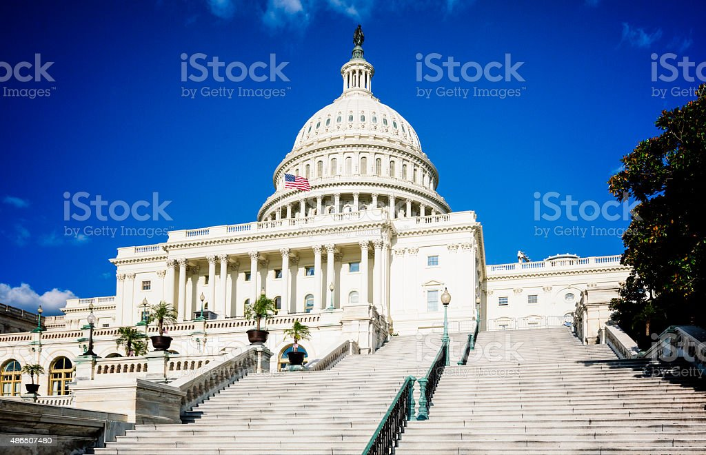 Capitol Hill under Clear Sky, DC stock photo