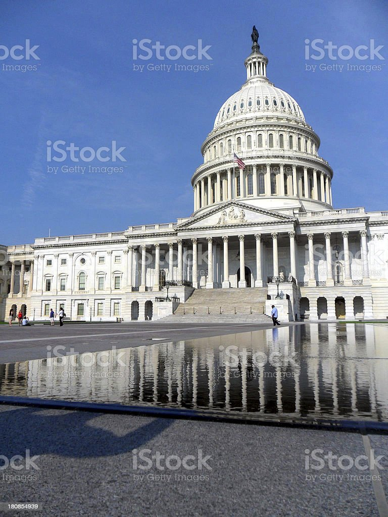 Capitol Hill USA royalty-free stock photo