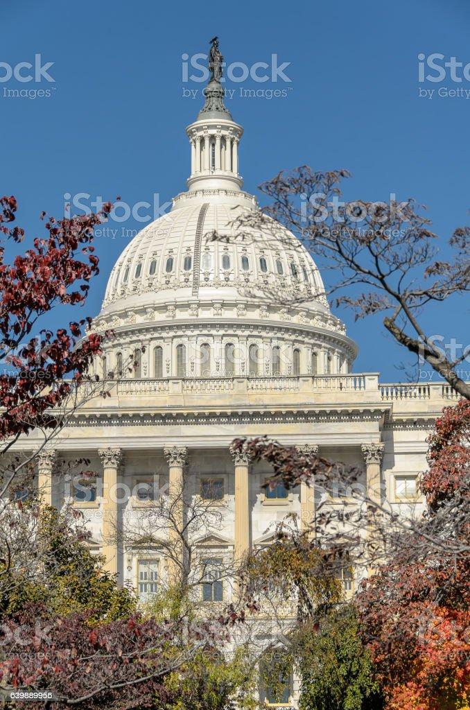 US Capitol, home of US Congress; closeup stock photo