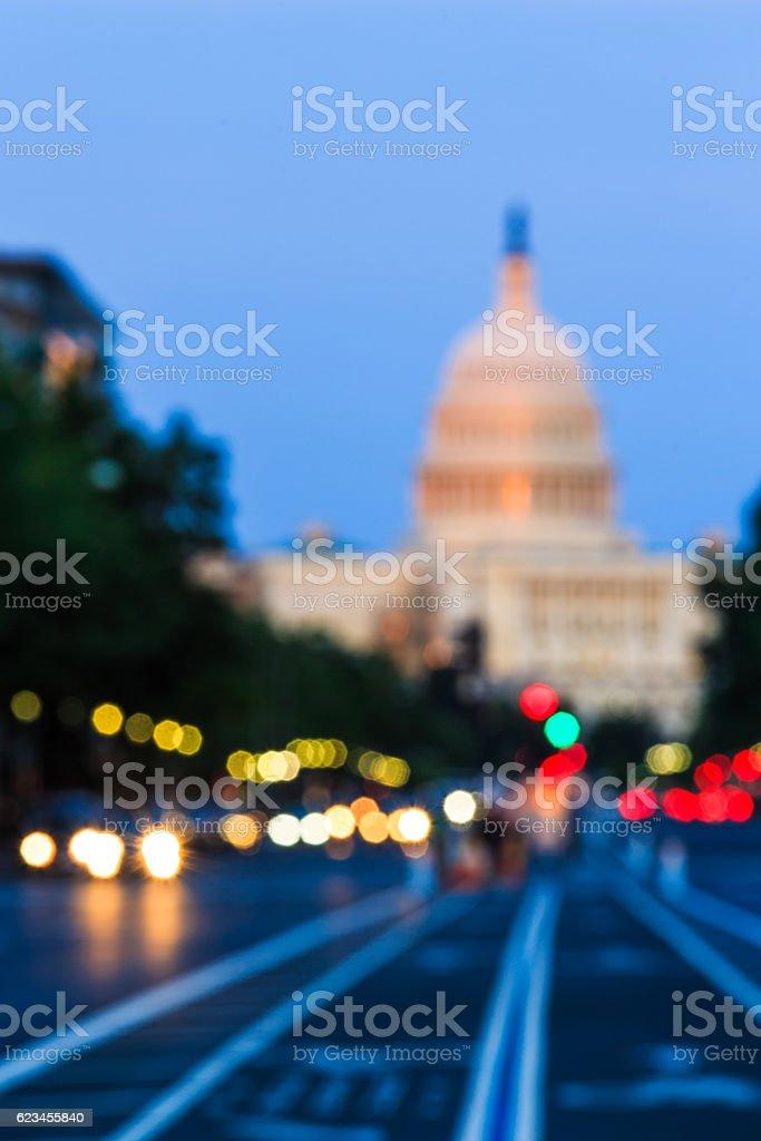 U.S. Capitol in Blurred stock photo