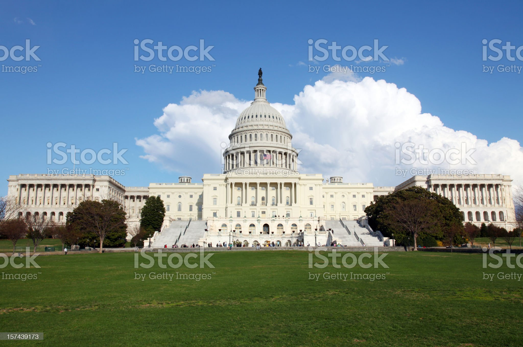 U.S. Capitol in Spring royalty-free stock photo