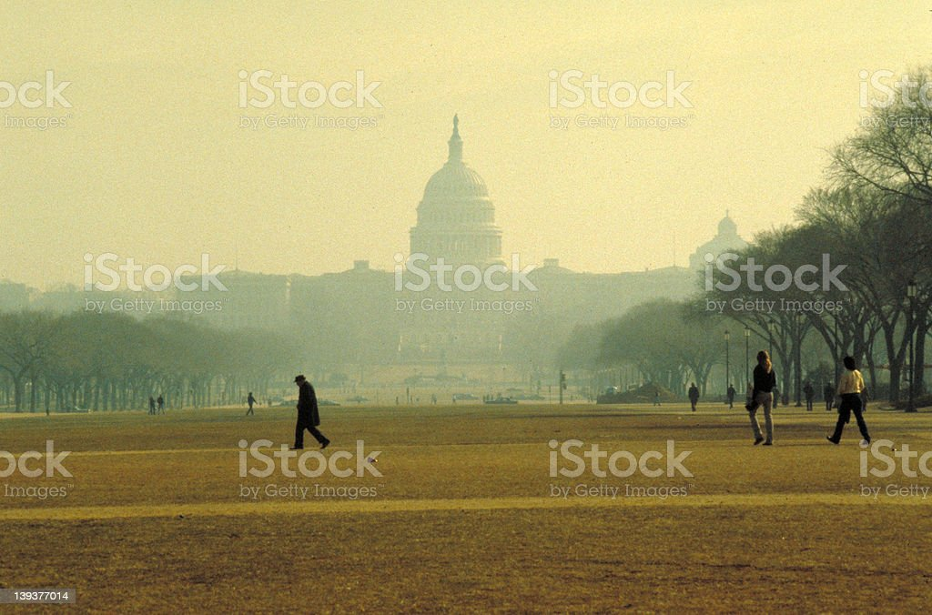Capitol in the Haze stock photo
