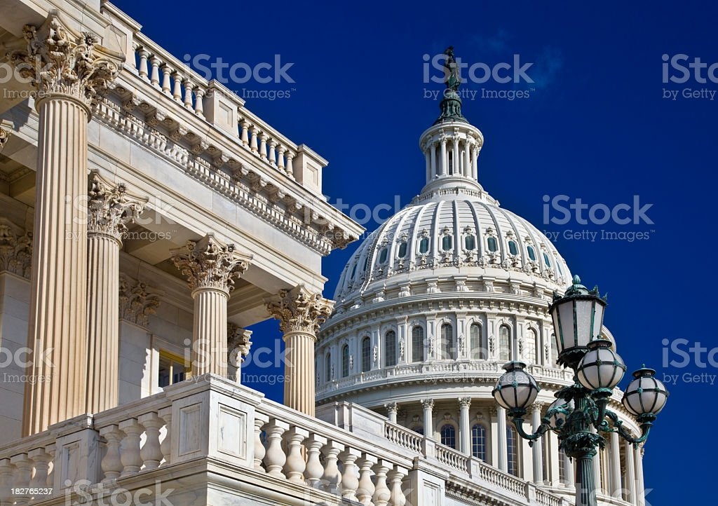 Capitol in Washington DC, detail stock photo