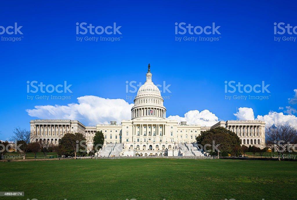U.S. Capitol in Washington DC Panorama stock photo