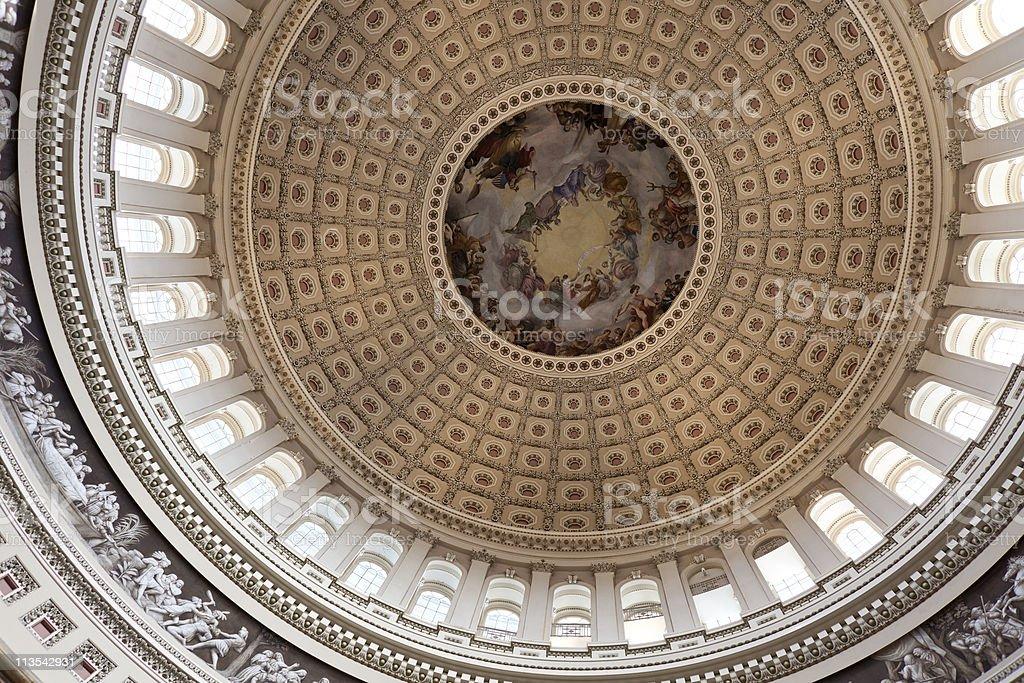 USA Capitol Interior royalty-free stock photo