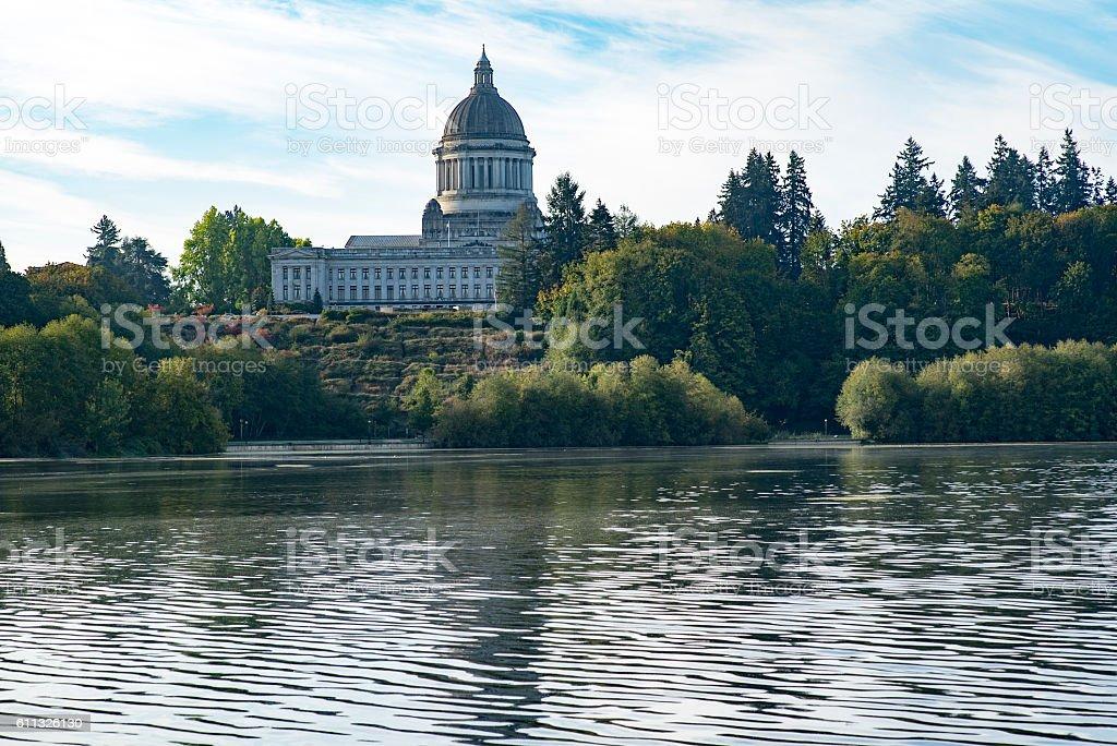 Capitol Lake Olympia, Washington stock photo