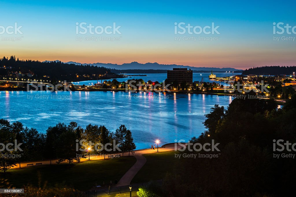 Capitol Lake - Olympia, Washington  USA stock photo