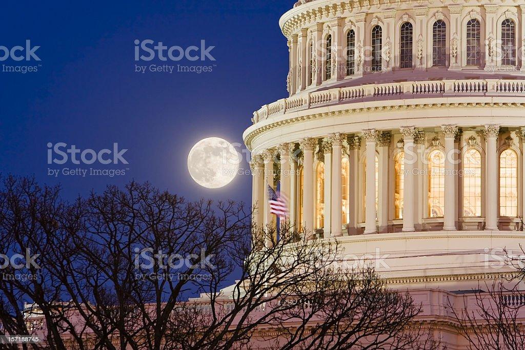 Capitol moonrise royalty-free stock photo
